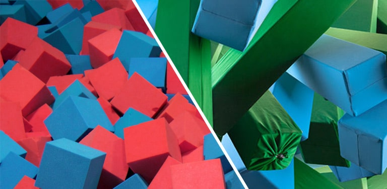 foam logs vs foam cubes which do you prefer gym pit foam
